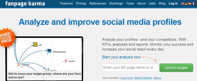 saber marketing educativo fanpage karma benchmarking