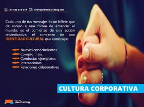 cultura corporativa marketing educativo